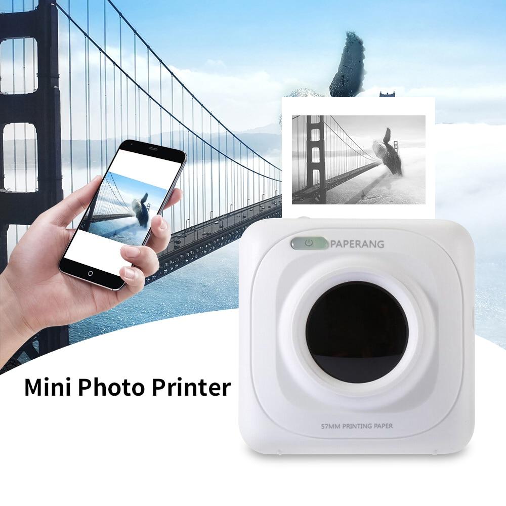 Portable Bluetooth Printer Mini Wireless Pos Thermal Photo Printer For Mobile Phone iOS, Android Pocket Printer 1000 mAh Battery