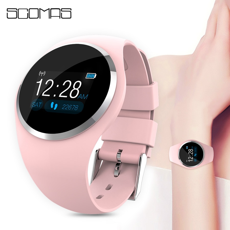 SCOMAS 2019 Upgrade Fashion Smart Watch HR Blood Pressure Monitor Women Physiological Reminder Smartwatch For Android IOS