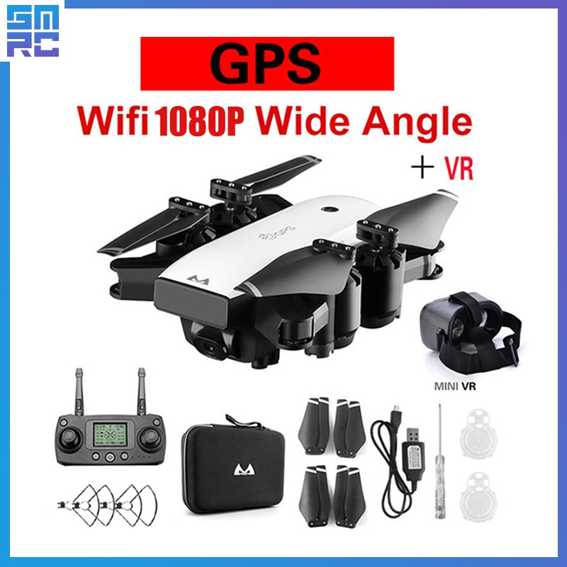 SMRC S20 drone 4K HD Camera with GPS FOLLOW ME FPV RC Quadcopter Foldable Plane race helicopter fpv racing Dron x PRO profission