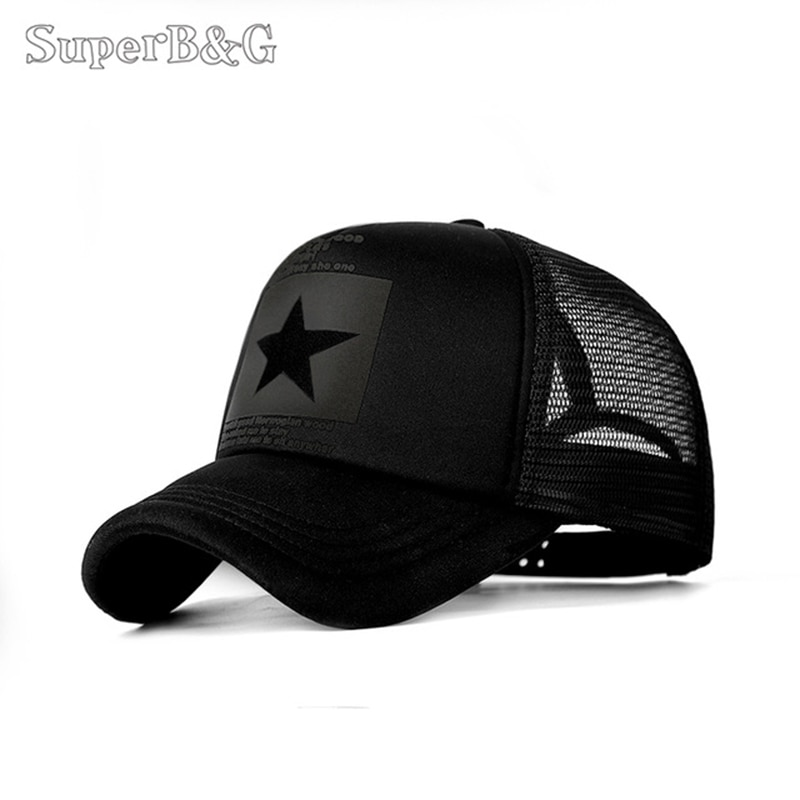 SuperB&G 2019 Fashion Summer Baseball Cap Women Men Mesh Breathable Snapback Cap Unisex Adjustable Sport Hats Dad Hat Bone