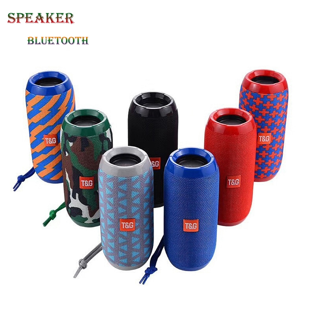TG117 Portable Speaker Waterproof Bluetooth Speaker Outdoor Subwoofer Bass Wireless Speakers Mini Column Box Loudspeaker FM TF