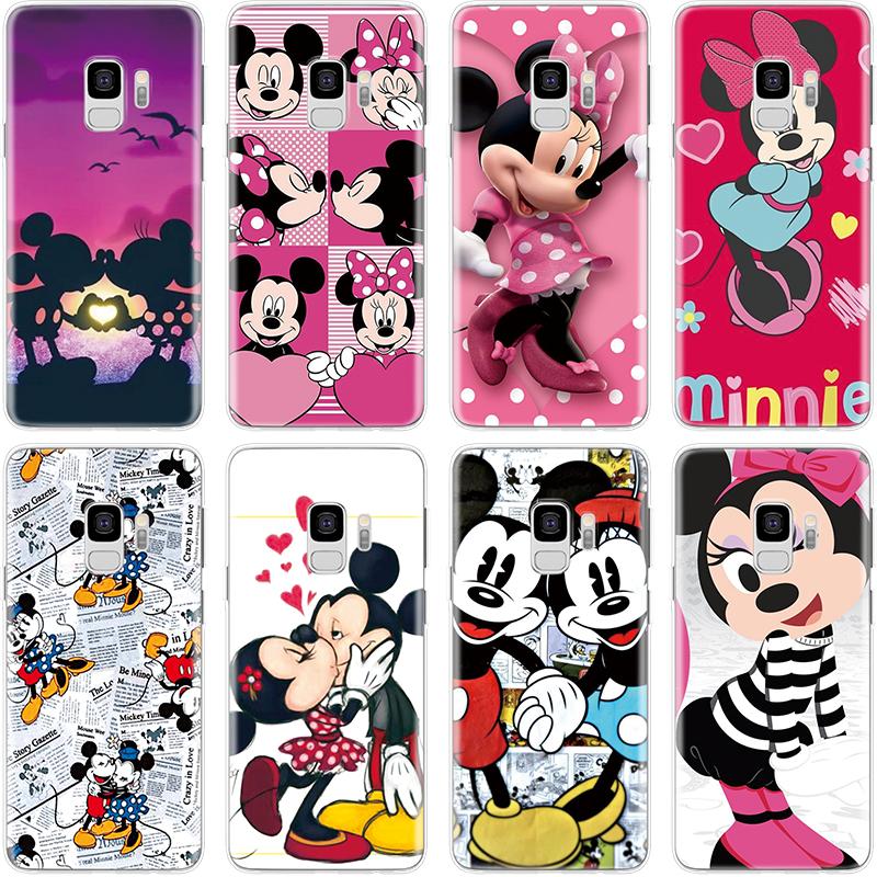 TPU Fundas For Coque Samsung Galaxy J3 J5 J7 A3 A5 2016 2017 J4 J6 A6 A7 A8 2018 Note 8 9  S7 Edge S8 S9 Plus Minnie Mickey Case