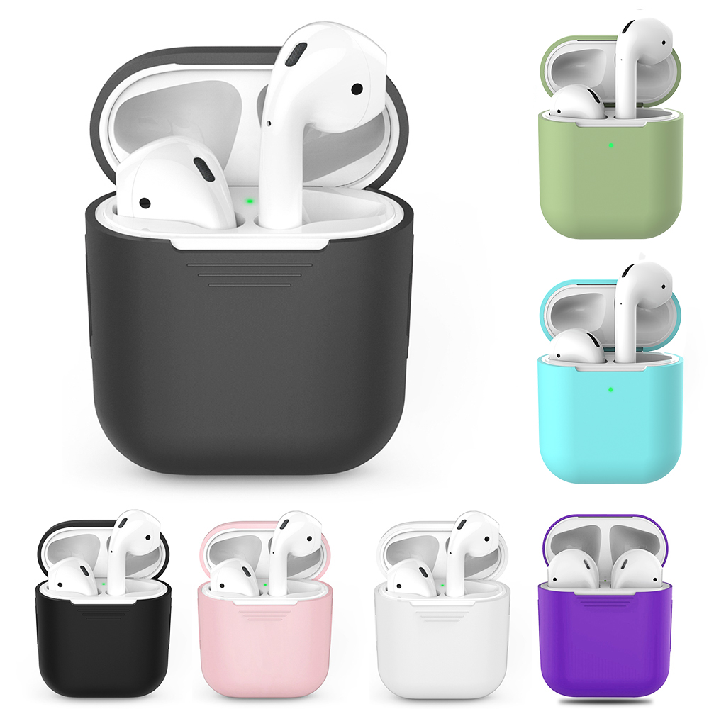 TPU Silicone Bluetooth Wireless Earphone Case For AirPods 1 Protective Cover Skin Accessories For Apple AirPods 2nd Charging Box