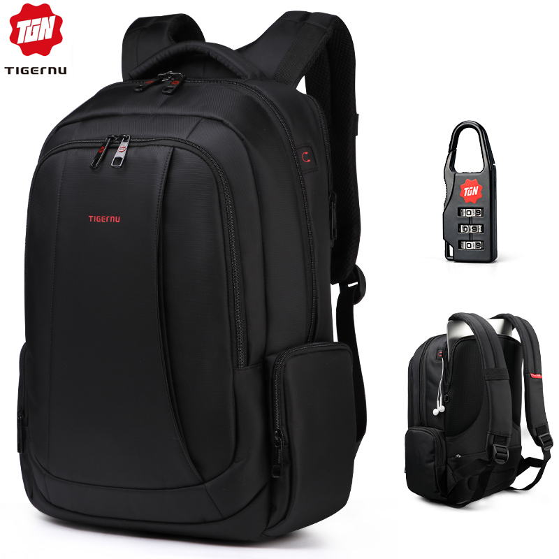 Tigernu Anti Theft Nylon 27L Men 15.6 inch Laptop Backpacks School Fashion Travel Male Mochilas Feminina Casual Women Schoolbag