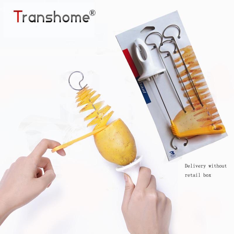 Transhome Potato Spiral Cutter Slicer Spiral Potato Chips PRESTO 4spits Potato Tower Making Twist Shredder Cooking Tools