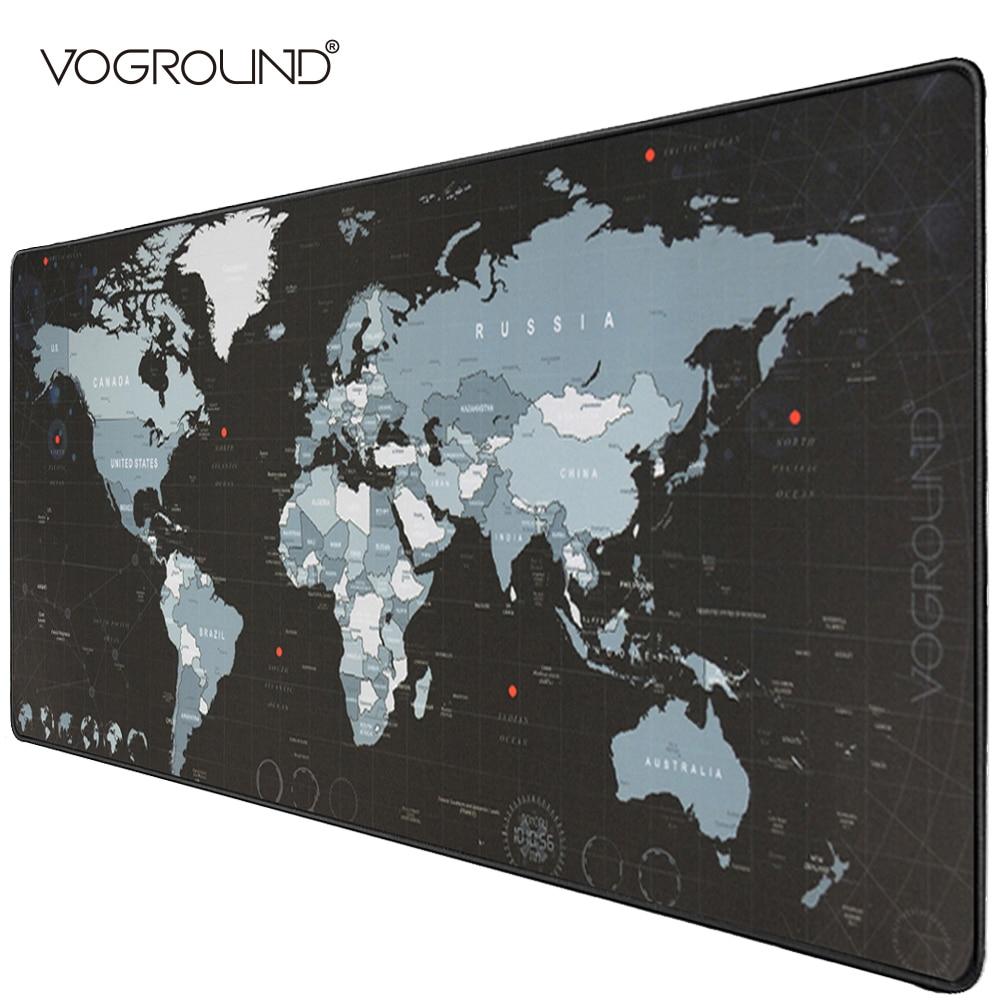 VOGROUND Super Large Mouse Pad Natural Rubber Material Locking Edge Waterproof Anti-slip Desk Gaming Mousepad Desk Mats