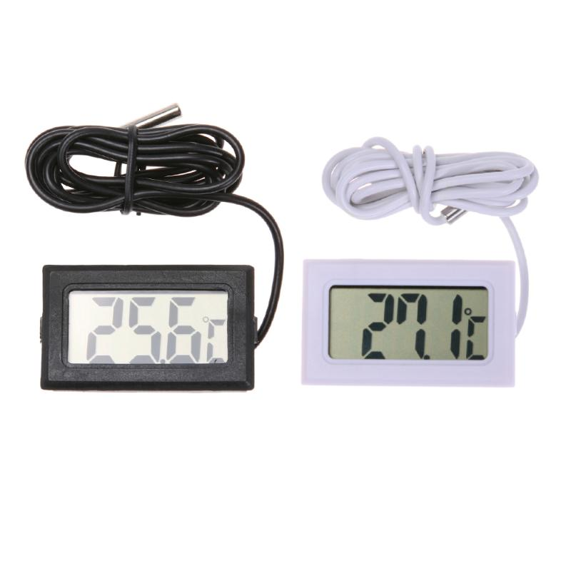 Waterproof LCD Electronic Pet Aquarium Thermometer Digital Outdoor Temperature Measure Tool With Probe Aquatic Products