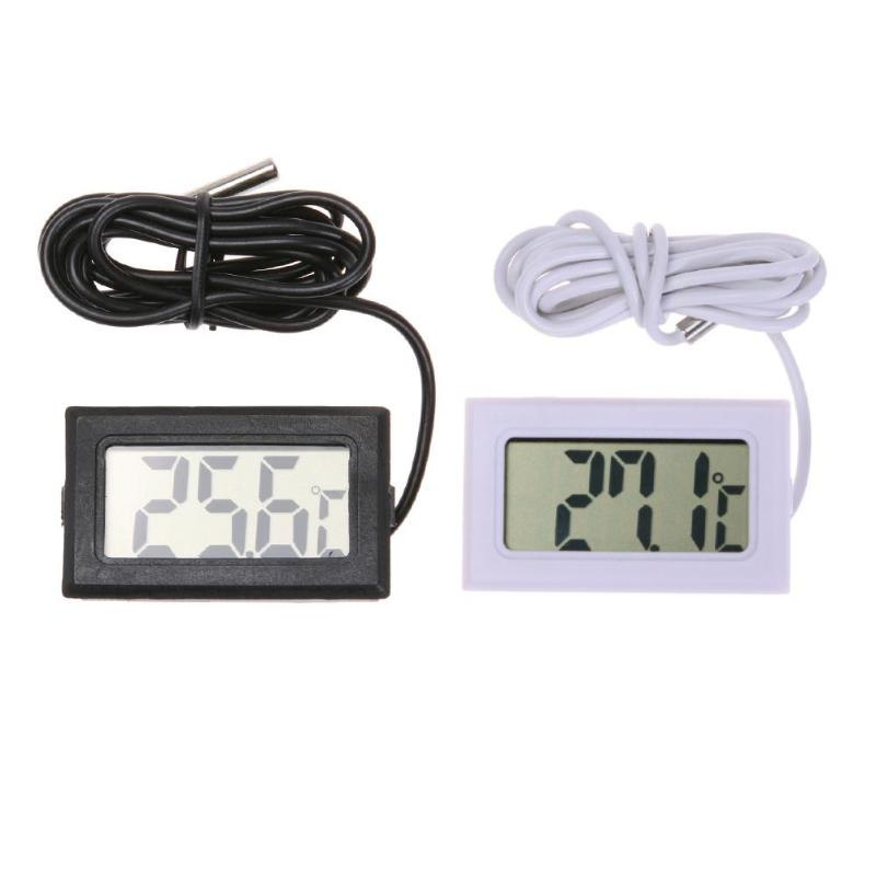 Waterproof LCD Electronic Pet Aquarium Thermometer Digital Outdoor Temperature Measure Tool With Probe Aquatic Tool