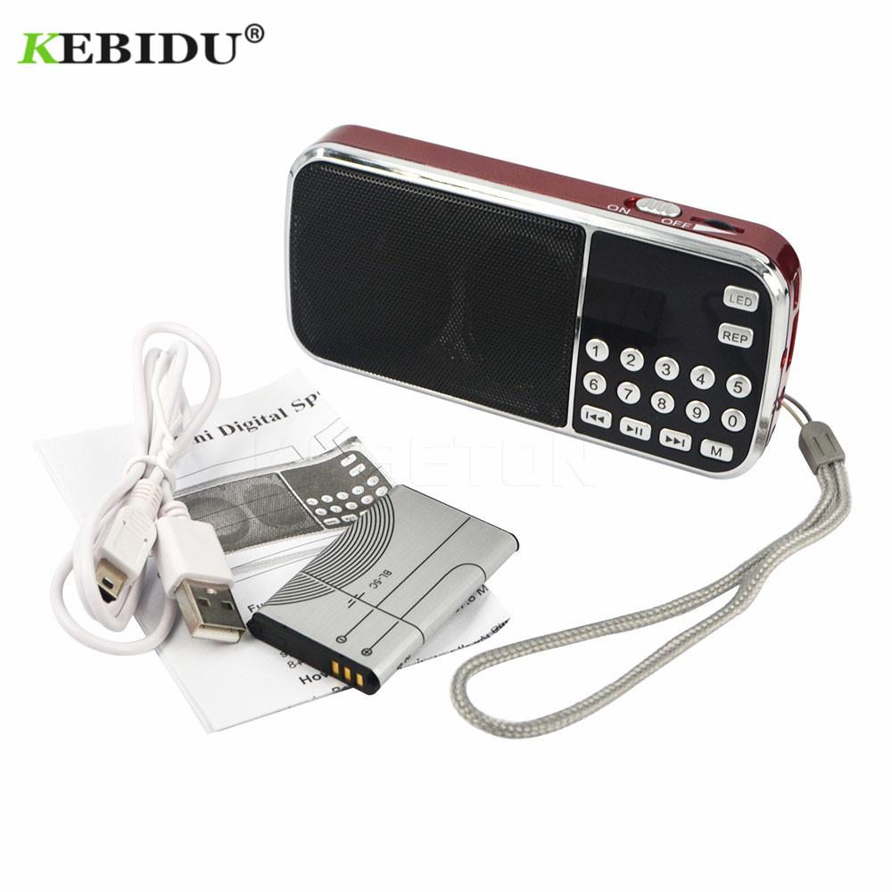 kebidu Fashion L-088 Portable HIFI Mini Speaker MP3 Audio Music Player Flashlight Amplifier Micro SD TF FM Flashlight Radio