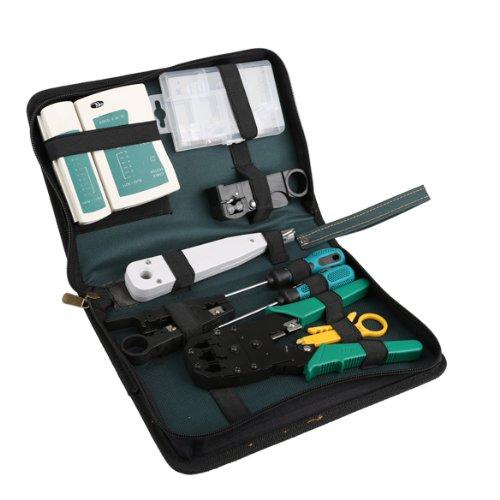 11 in 1 Professional Network Computer Maintenance Repair Tool Kit Toolbox
