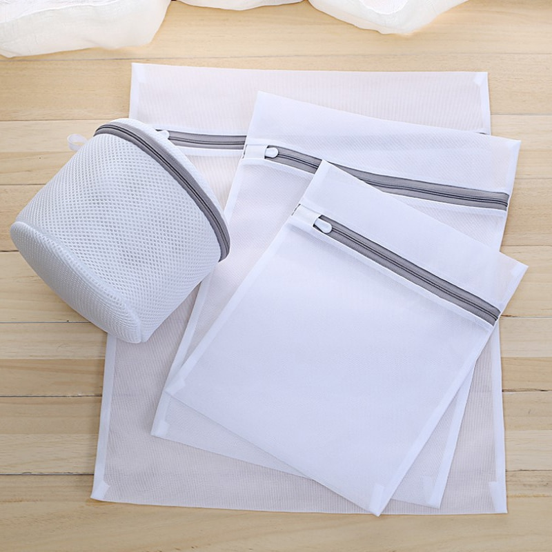 15 sizes Zippered Foldable Nylon Laundry Bag Bra Socks Underwear Clothes Washing Machine Protection Net Mesh Bags