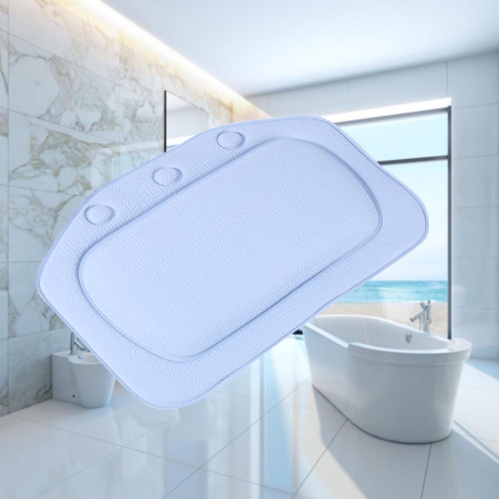 21*31cm SPA Bath Pillow Home Bathtub Pillow PVC Neck Bathtub Cushion Soft Headrest Suction Cup Bathtub Pillow Accessories A25