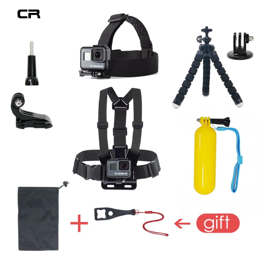 Accessories Set For Gopro Hero 6 5 Chest Mount For Go pro Hero 5 Float Grid For Xiaomi Yi 4K SJCAM Kit For EKEN H9 Action Camera