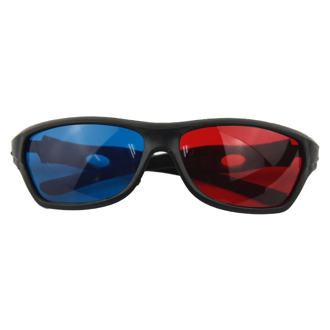 HOT-Fasdga 3D Plastic glasses/VR glasses Red-blue Anaglyph Simple style 3D Glasses 3D movie game DVD vision(Extra Upgrade Style)