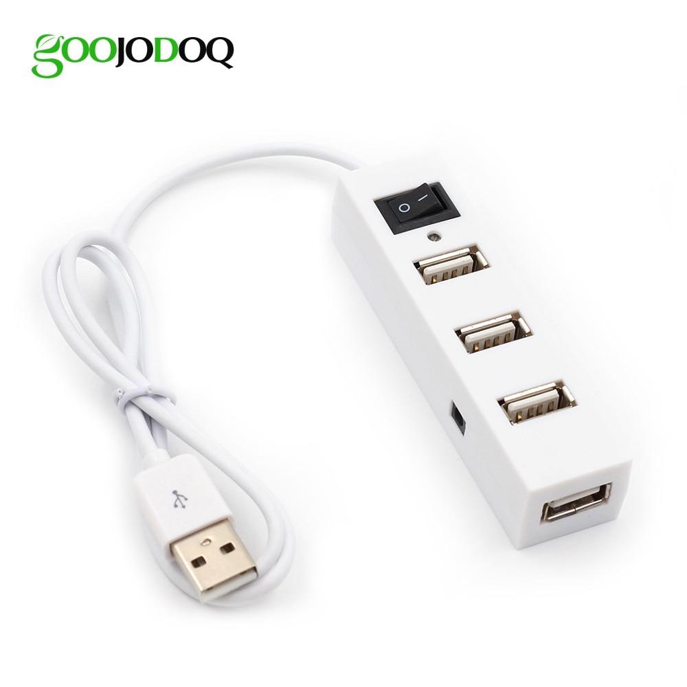 High Speed Mini 4 Port USB 2.0 Hub USB Port Splitter For Laptop PC Computer Peripherals Accessories Wholesale Free Drop Shipping
