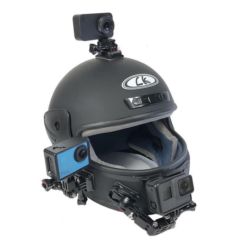 Motorcycle Helmet Mount Curved Adhesive Arm For Xiaomi yi 4K Gopro Hero 7 6 5 4 3 SJCAM sj4000 Eken H9 Action Camera Accessories