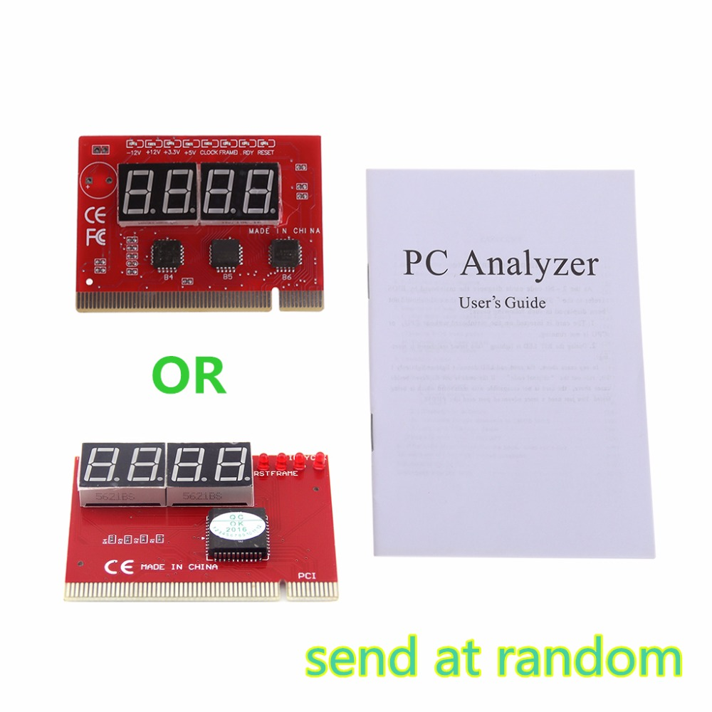 New Computer Analysis PCI POST Card Motherboard LED 4-Digit Diagnostic Test PC Analyzer Network Repair Tool Kit Brand New
