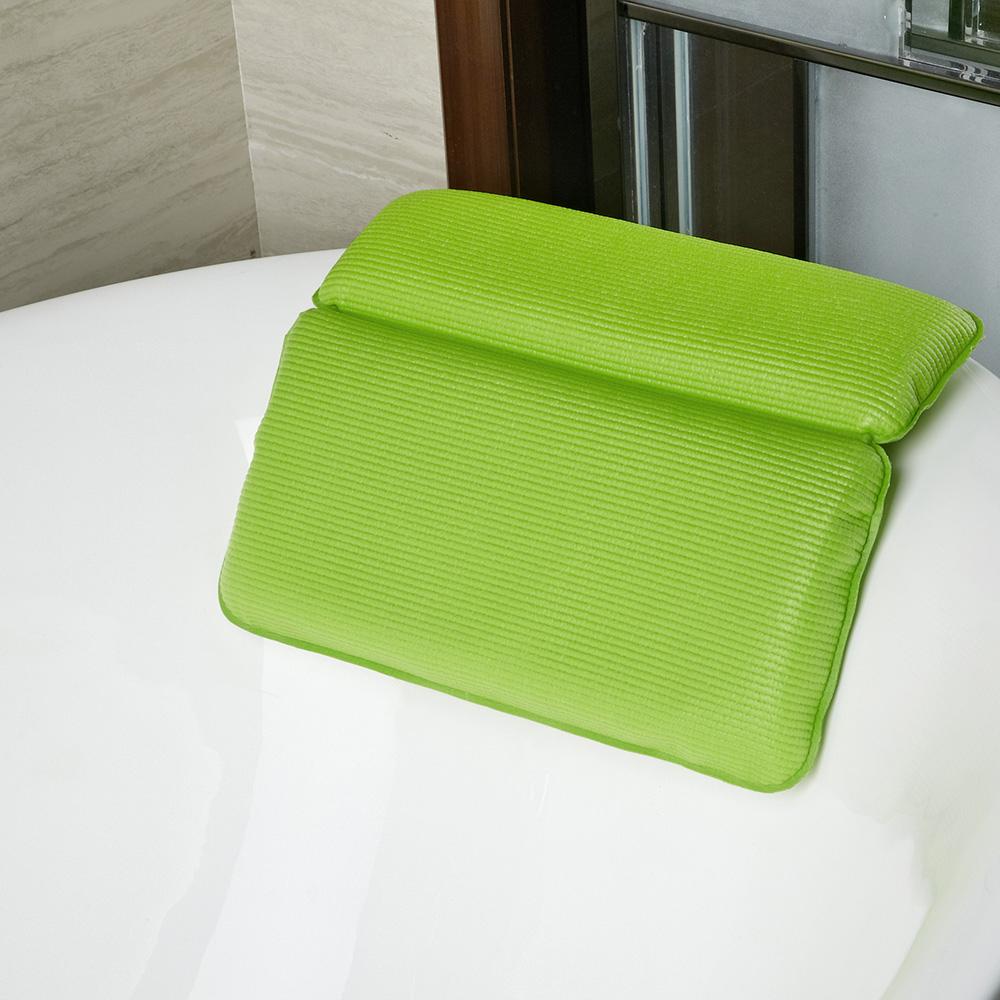 Non-slip Home Spa Bathtub Pillow Bathroom Headrest Eco-friendly Powerful Suction Cups 2-Panel Bath Pillow Hot Tub Accessories