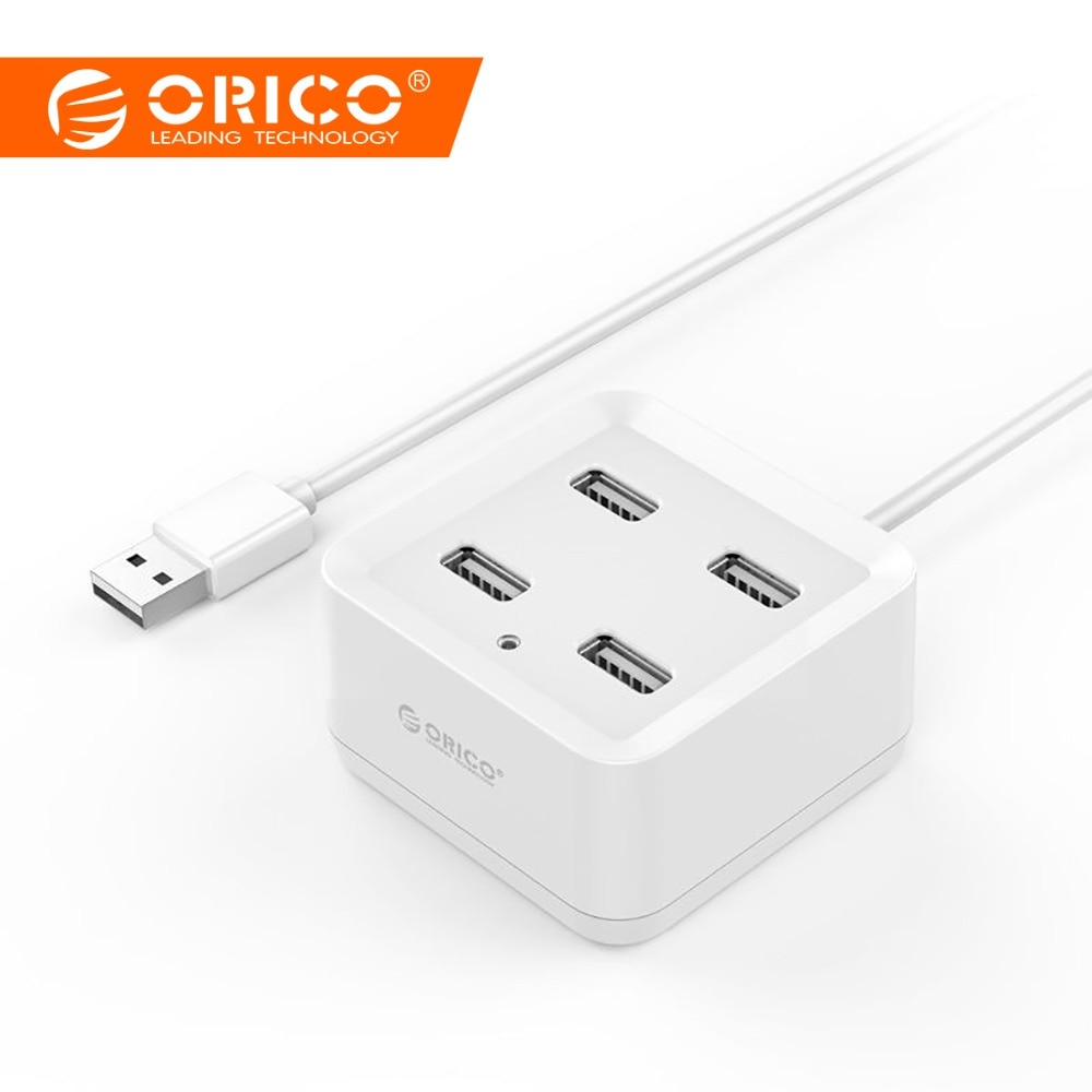 ORICO USB2.0 HUB 4 Port USB HUB USB Splitter Power Adapter for iMac Computer Laptop Accessories HUB USB 2.0 with 100/150cm Cable