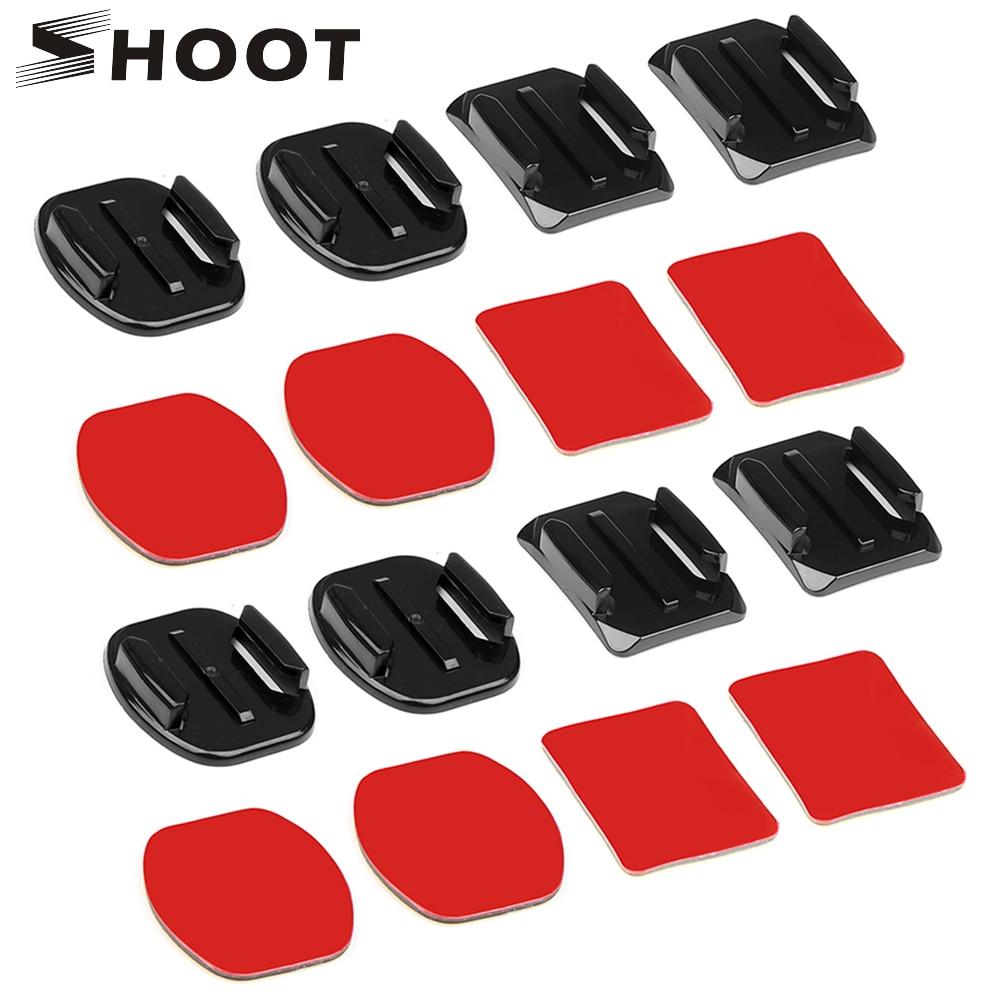 SHOOT Flat Curved Base Mount and Adhesive Stickers Mount for GoPro Hero 7 5 6 Xiaomi Yi 4K Sjcam Sj4000 Go Pro Hero 6 Accessory