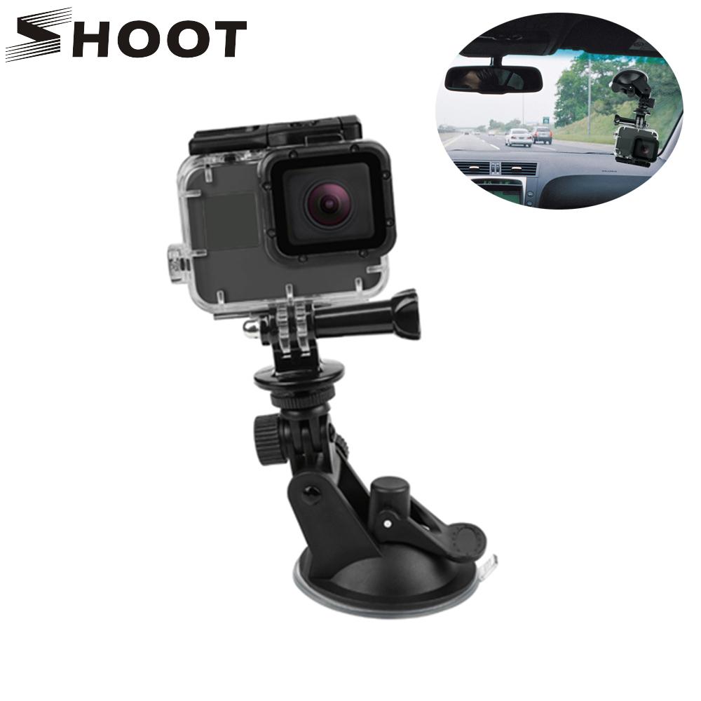SHOOT Mini Action Camera Suction Cup for GoPro Hero 7 5 6 4 Sony SJCAM SJ7 Yi 4K H9 Go Pro 7 Mount Window Glass Sucker Accessory