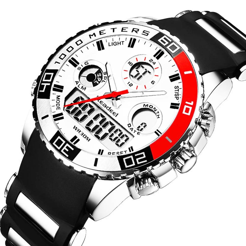 Top Brand Luxury Watches Men Rubber LED Digital Men's Quartz Watch Man Sports Army Military Wrist Watch erkek kol saati