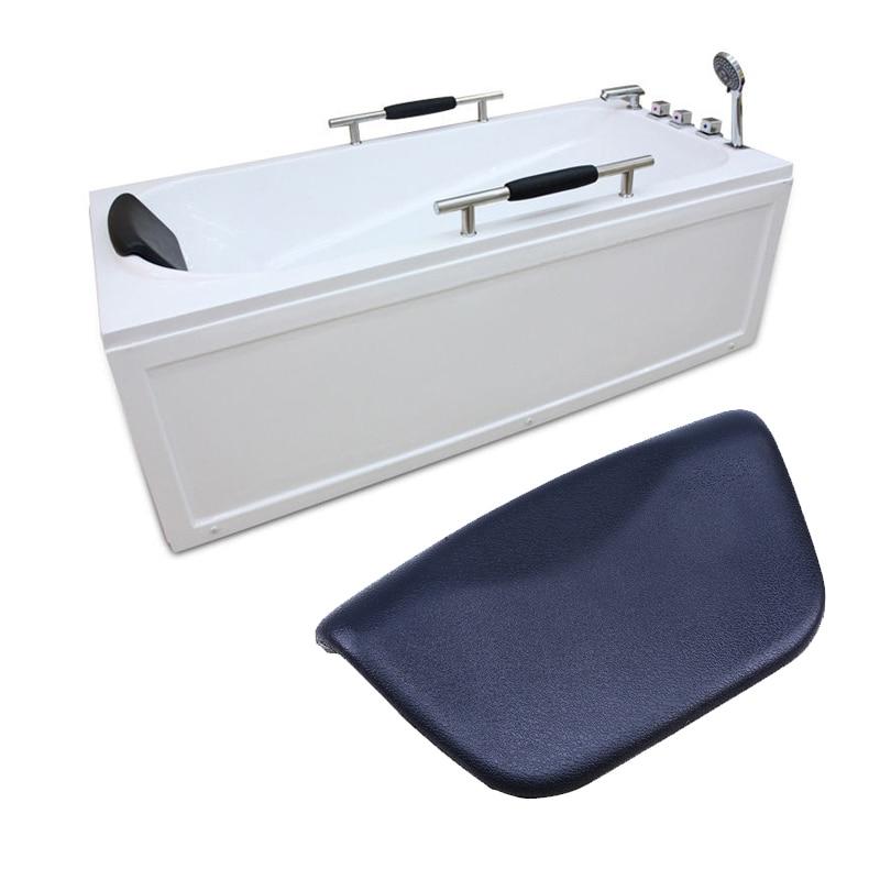 WHISM SPA Bath Pillow Non-slip Bathtub Pillow Soft Headrest Waterproof PU Bath Pillows with Suction Cups Bathroom Accessories