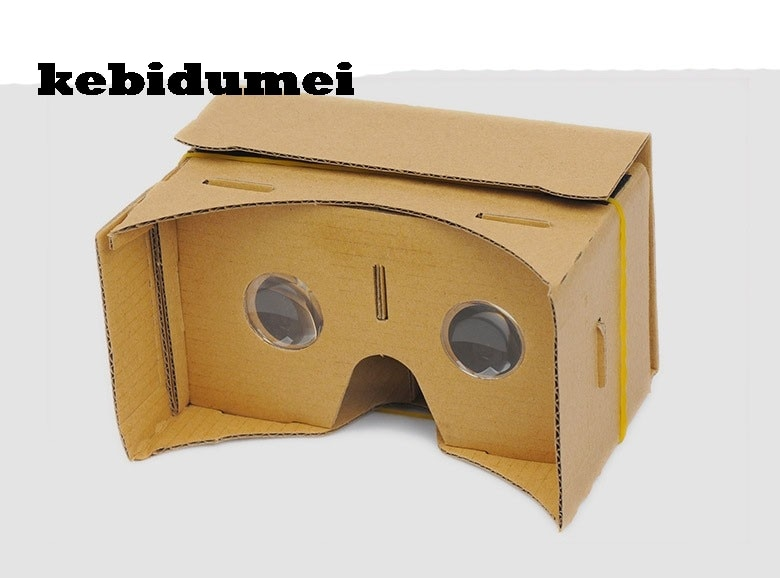 "kebidumei DIY Magnet Cardboard Virtual Reality Mobile Phone 3D Viewing Glasses For 5.0"" Screen  3D Glasses"