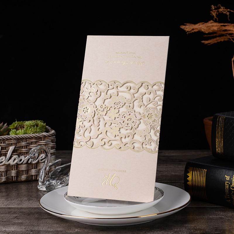 1pcs Blue White Red Laser Cut Wedding Invitations Card Rose Elegant Greeting Card Customize Envelopes Wedding Party Decorations