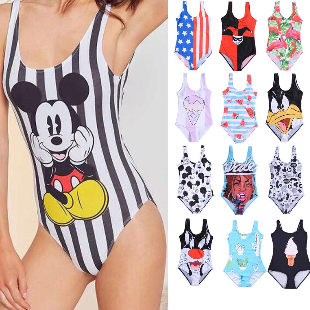 20 Pattern Styles Women One Piece Swimsuit 3D Print One-pieces Swimsuits Swimwear One-Piece Suits