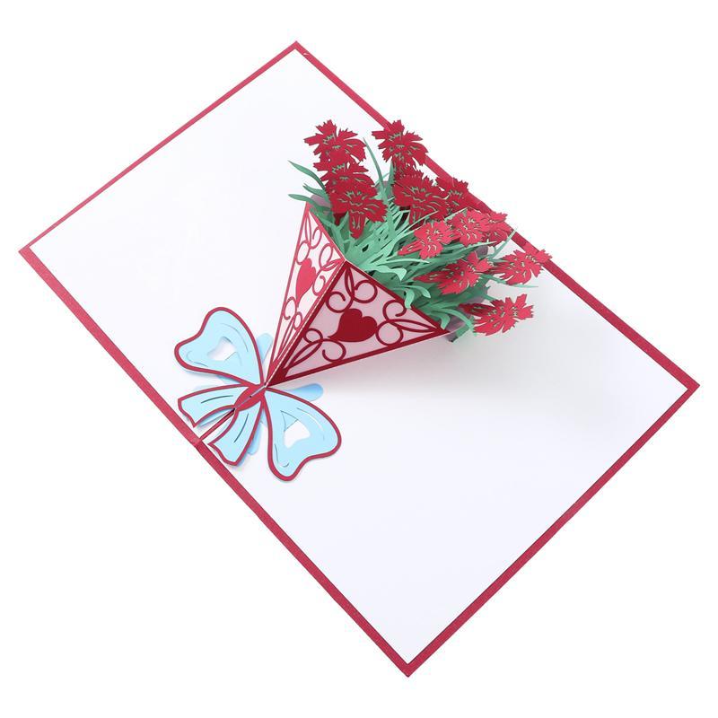 3D Pop Up Cards Valentine Lover Happy Birthday Anniversary Greeting Cards  For Birthday Valentine Holiday