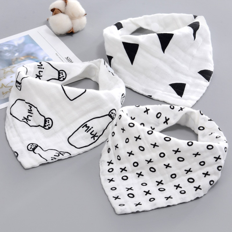 AZEOSHE Baby Bibs Boy Girl Bandana Water Absorb Bib Burp Cloth Triangle Cotton Baby Scarf Burp Baby Christmas Accessories