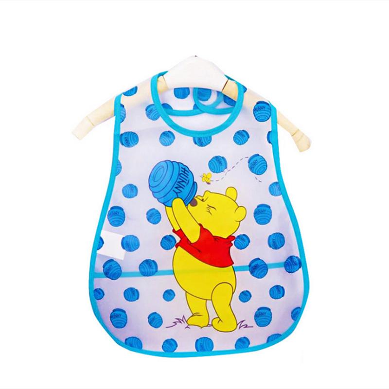 Adjustable Baby Bibs EVA Plastic Waterproof Lunch Feeding Bibs Baby Cartoon Feeding Cloth Children Baby Apron Babador de bebe