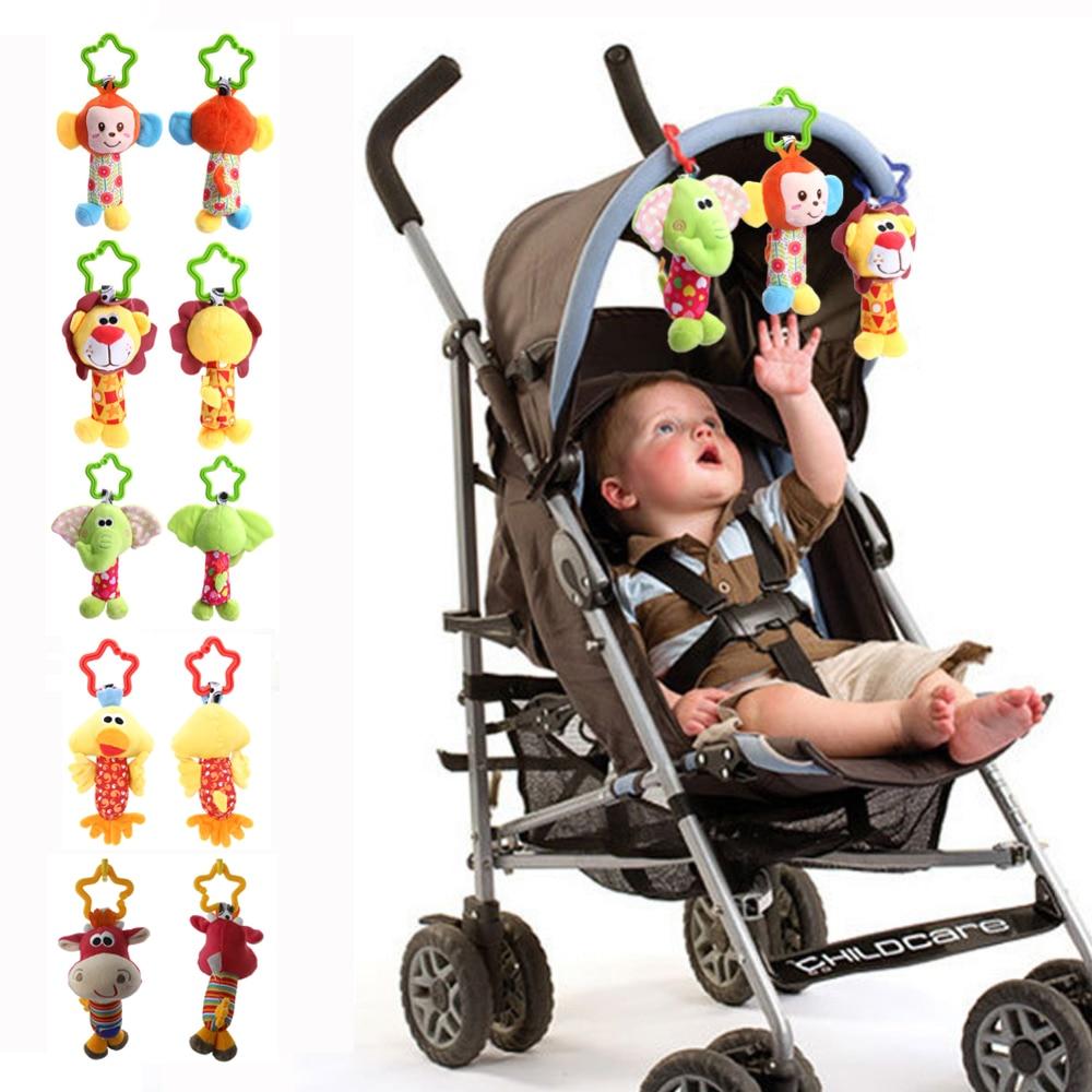 Baby Handbell Newborn Boys Girls Infant Soft Cute Animal Doll Handbells Developmental Baby Bells Toys