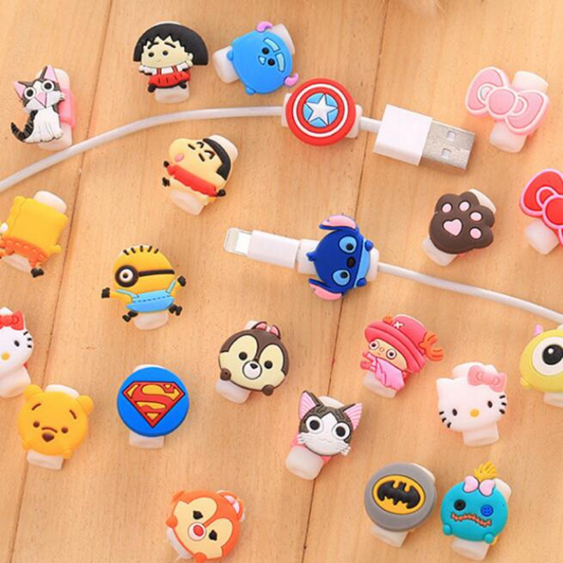 Travel accessories Cute Animals Cable Winder Earphone Protector USB Line Phone Holder Accessory Packing Organizers