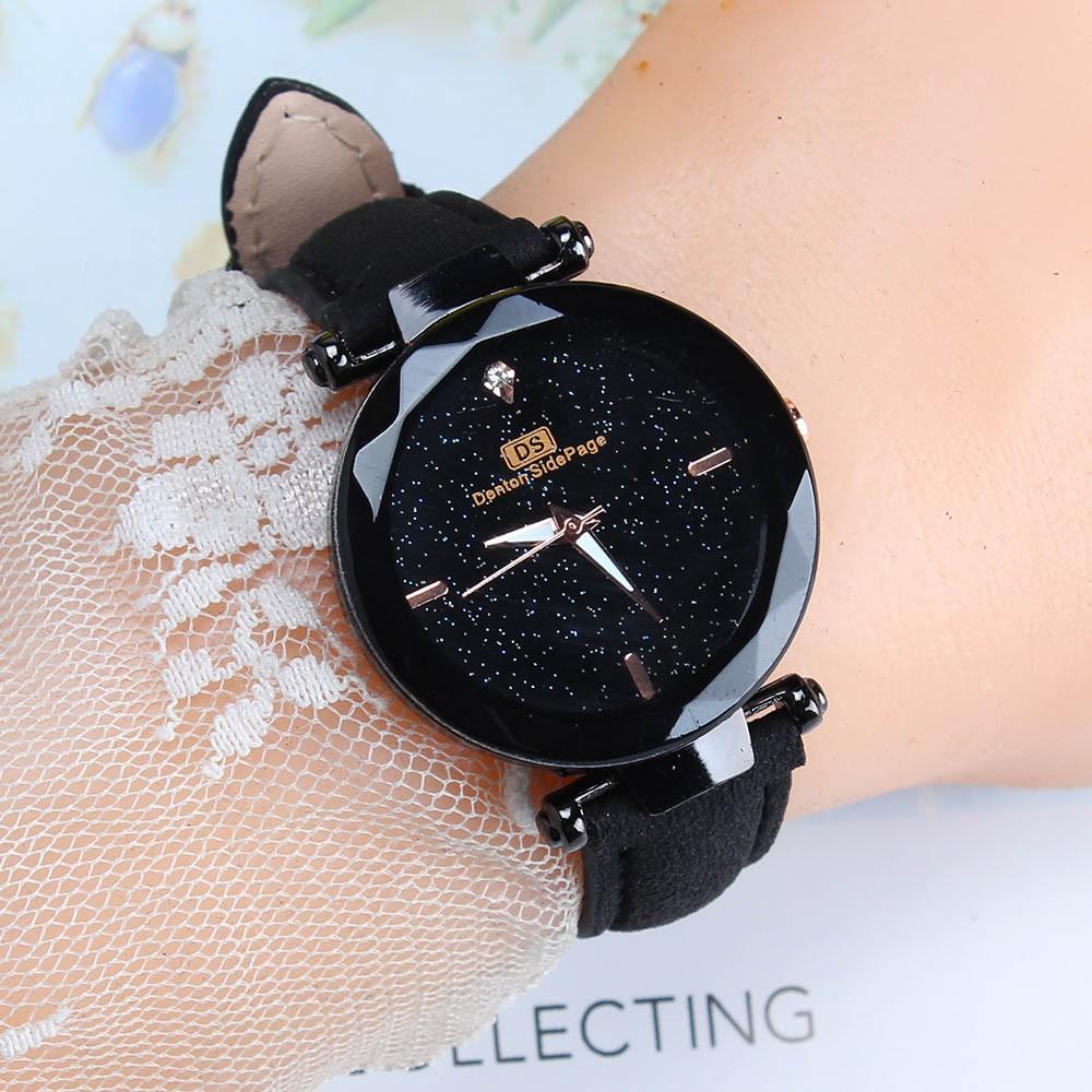 Exquisite Ladies Watch Starry Sky Female Leather Quartz Wrist Watch Elegant Women Watches Bracelet Watch Montre Femme 2018