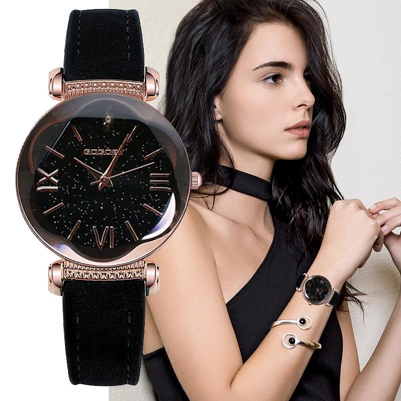 Gogoey Women's Watches 2018 Luxury Ladies Watch Starry Sky Watches For Women Fashion bayan kol saati Diamond Reloj Mujer 2018