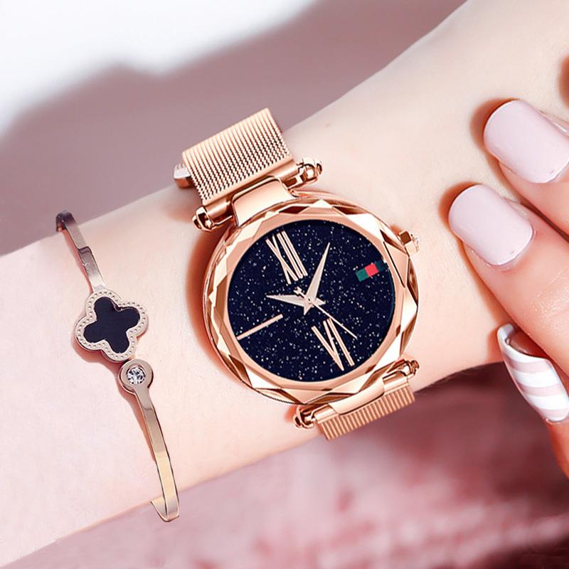 Luxury Rose Gold Women Wristwatch