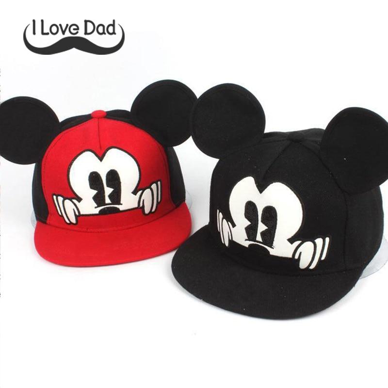 Mickey Ears Baby Sun Hats Children Snapback Baseball Cap Summer Toddler Kids Baby Boy Girls Hats Bucket Caps Casquette Enfant
