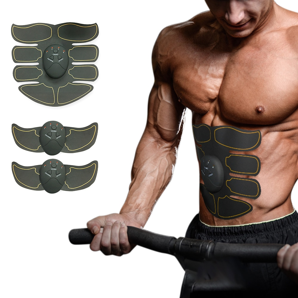 Muscle Stimulator Body Slimming Shaper Machine Abdominal Muscle Exerciser Training Fat Burning Body Building Fitness Massager