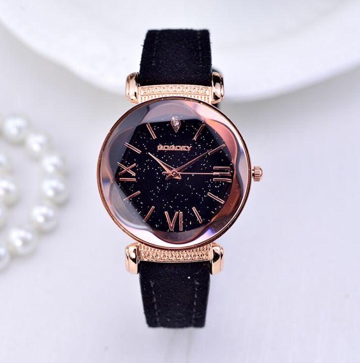 New Fashion Gogoey Brand Rose Gold Leather Watches Women ladies casual dress quartz wristwatch reloj mujer go4417