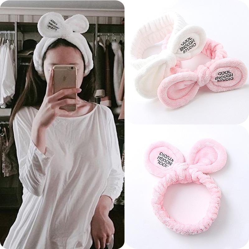 New Fashion Women Cute Big Ears Comfortable Wash Face Bathe Hair Holder Elastic Headband Girls Hairbands Hair Accessories