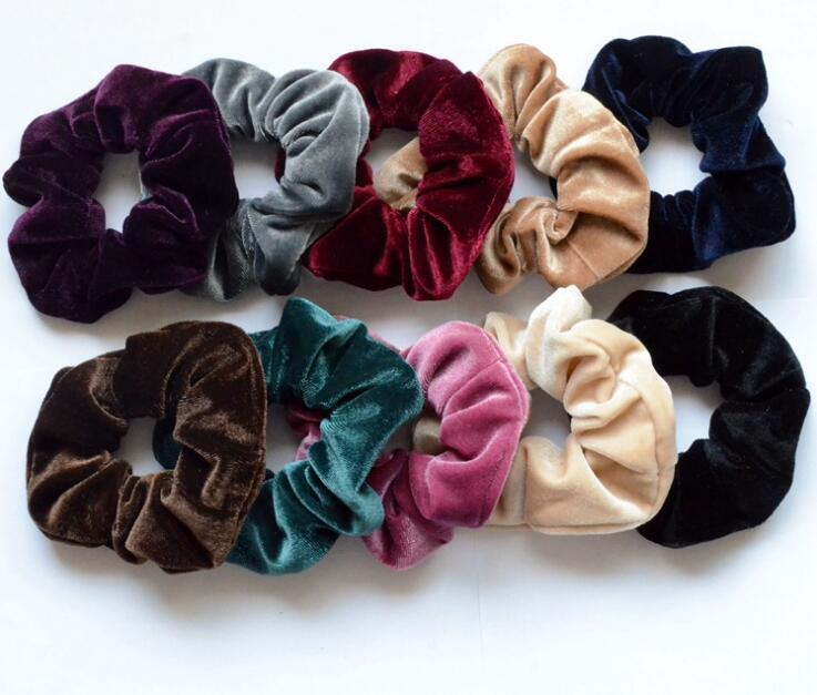 New arrival women's winter velvet hair Scrunchies Hair Tie Hair Accessories Ponytail Holder Hair