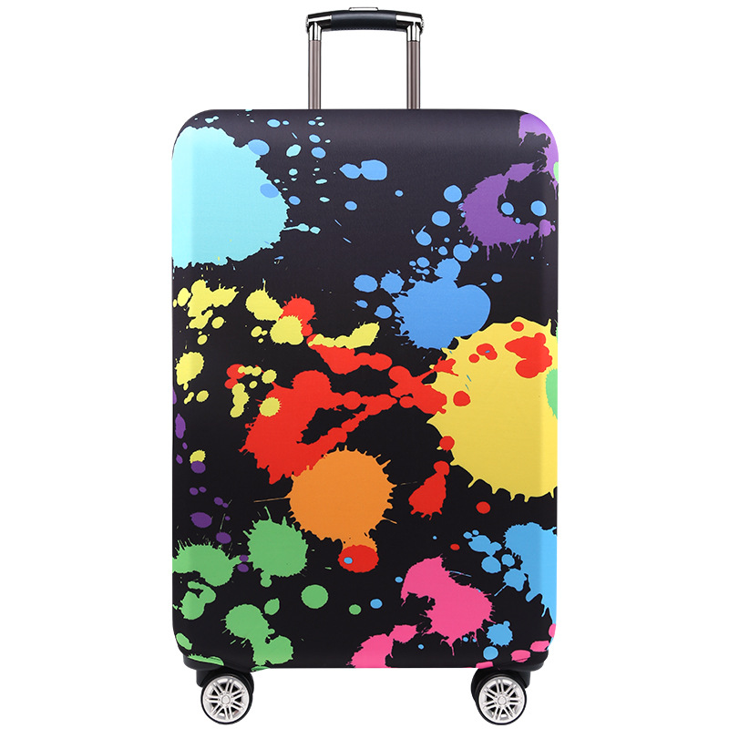 TRIPNUO Thicker Blue City Luggage Cover Travel Suitcase Protective Cover for Trunk Case Apply to 19''-32'' Suitcase Cover