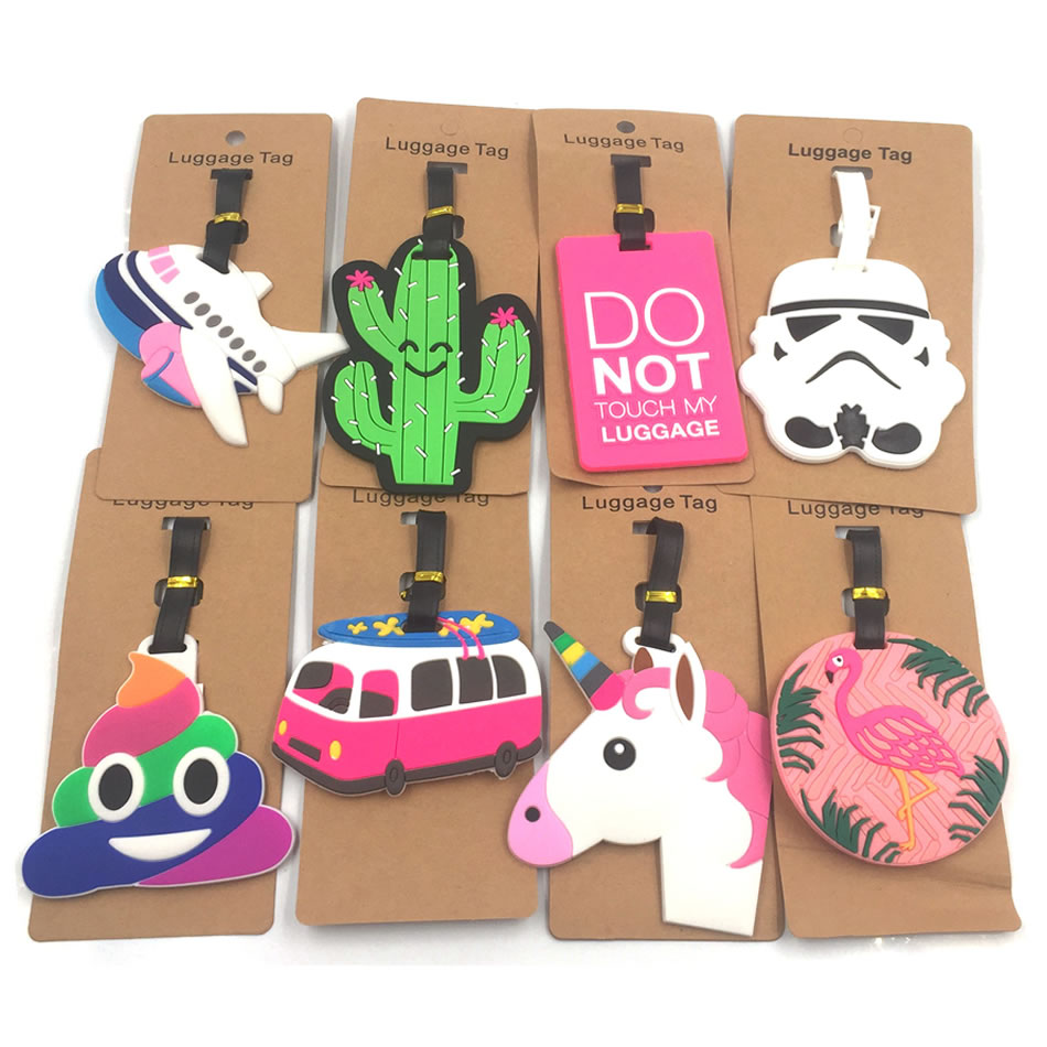 Travel Accessories Star Wars Luggage Tags Animal Cartoon Silica Gel Suitcase ID Addres Holder Baggage Boarding Portable Label