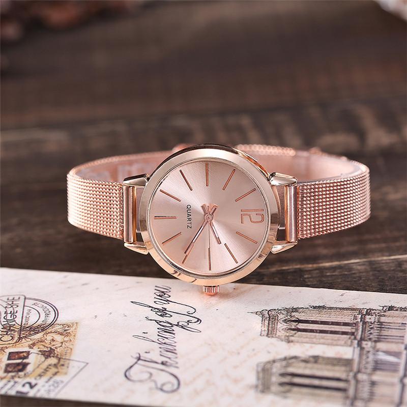 Women Stainless Steel Lady Bracelet Watch vansvar Brand Elegant Dial Quartz Casual Wrist Watch Clock Gift reloj mujer #D