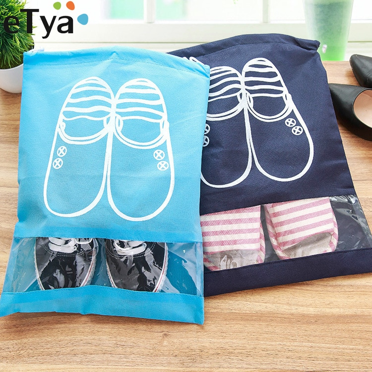 eTya Fashion Women Hot 1pcs High Quality Shoe Bag 2 size Travel Pouch Storage Portable Practical Drawstring Bag Organizer Cover