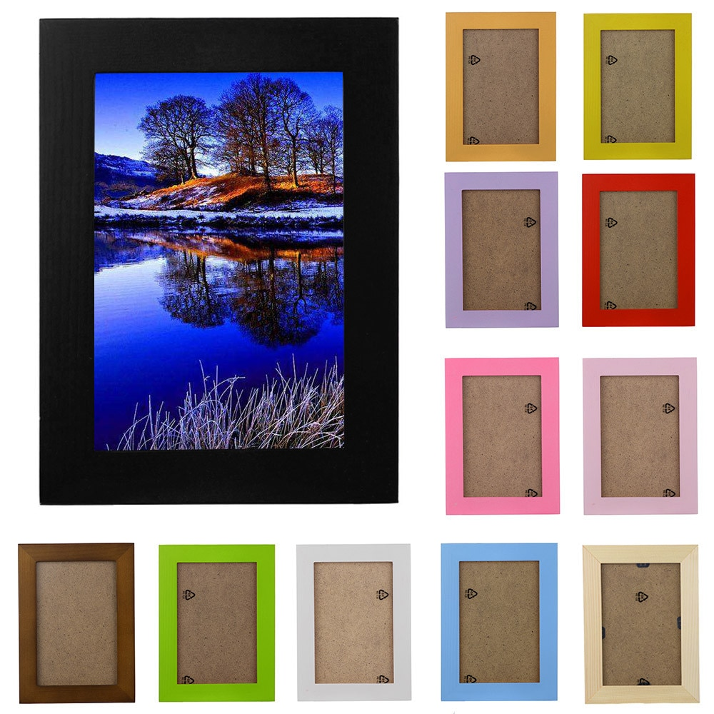 2018 New Arrival Wooden Picture Frame Wall Mounted Hanging Photo Frame Home Decor DIY Craft Decoration Wall Decals Frame K4