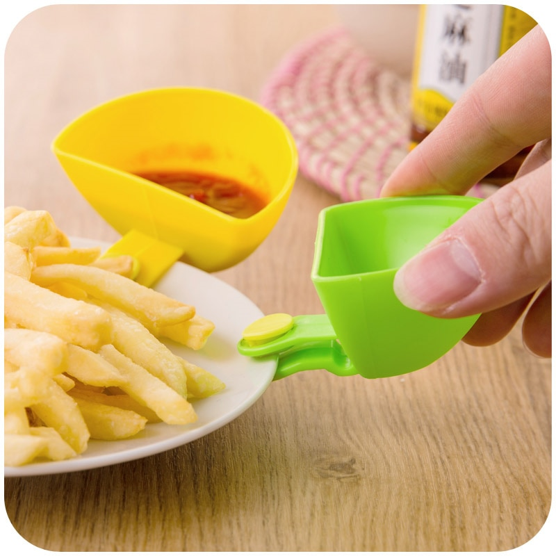 4pcs Flavored dishes Kitchen Bowl kit Tool Spice Clip for Tomato Sauce Salt Vinegar Sugar Flavor Spices christmas dinnerware