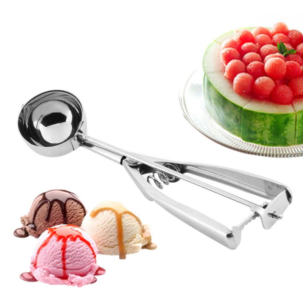 5cm Stainless Steel Ice Cream Mash Potato Scoop Ice Cream Ball Maker Kitchen  Ice Cream Spoon Tools